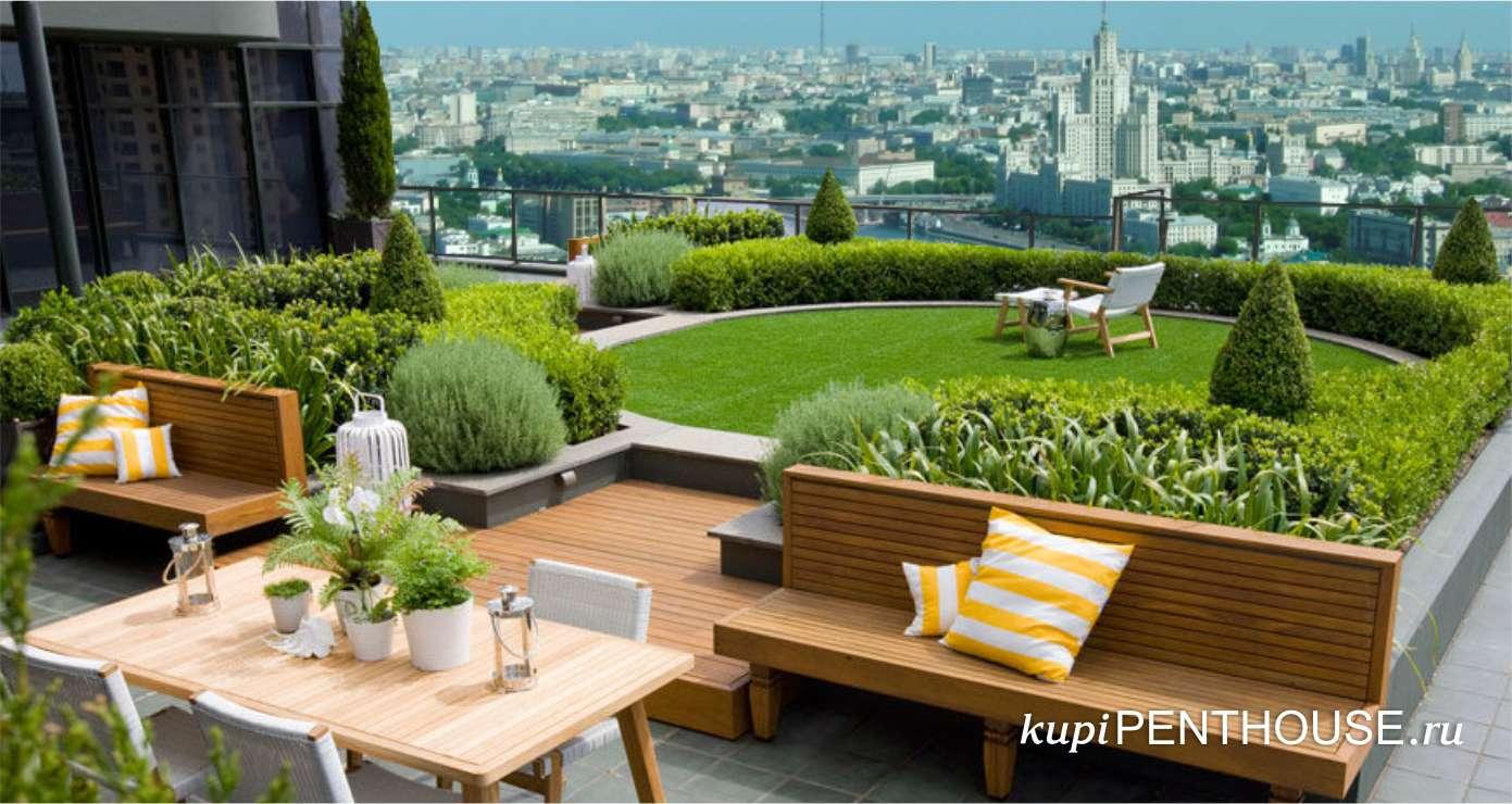 Дизайнерские сады на крыше
